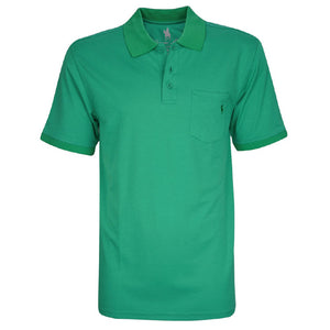 Mens Bamboo 1-Pkt S/S Polo Bright Green