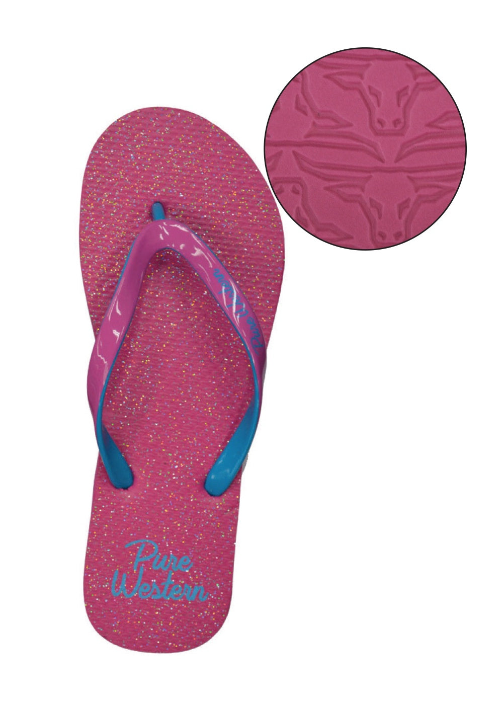 Glitter - Womens Thongs (Pink)