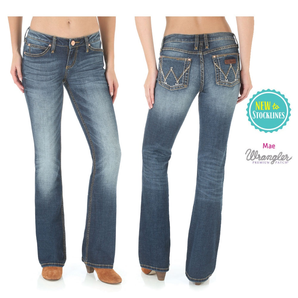 Womens Premium Patch Sits Above Hip Jean - Mae