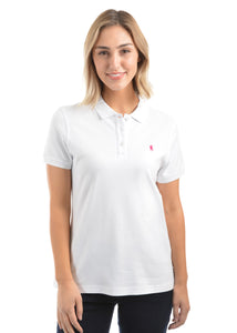 Womens Classic Stretch S/S Polo (White)
