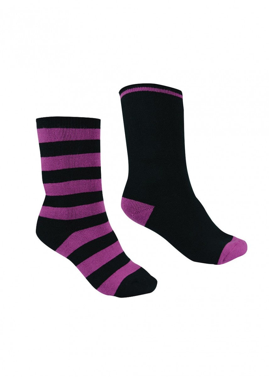 Thermal Socks - Twin Pack (Purple Orchid/Black)
