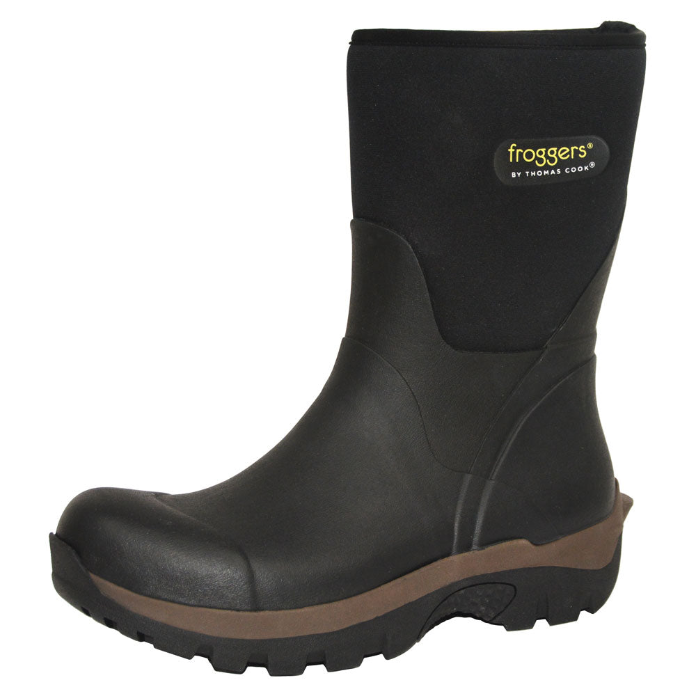 Froggers Mid Bush Boot Black