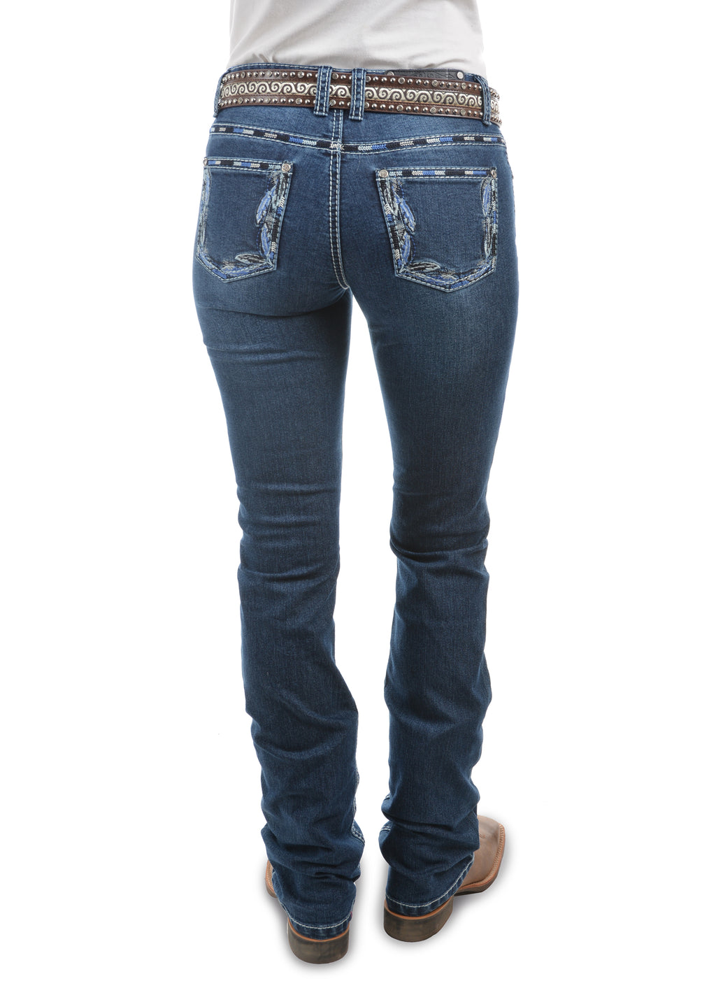 Womens Louisiana Relaxed Rider Jean-36 Leg