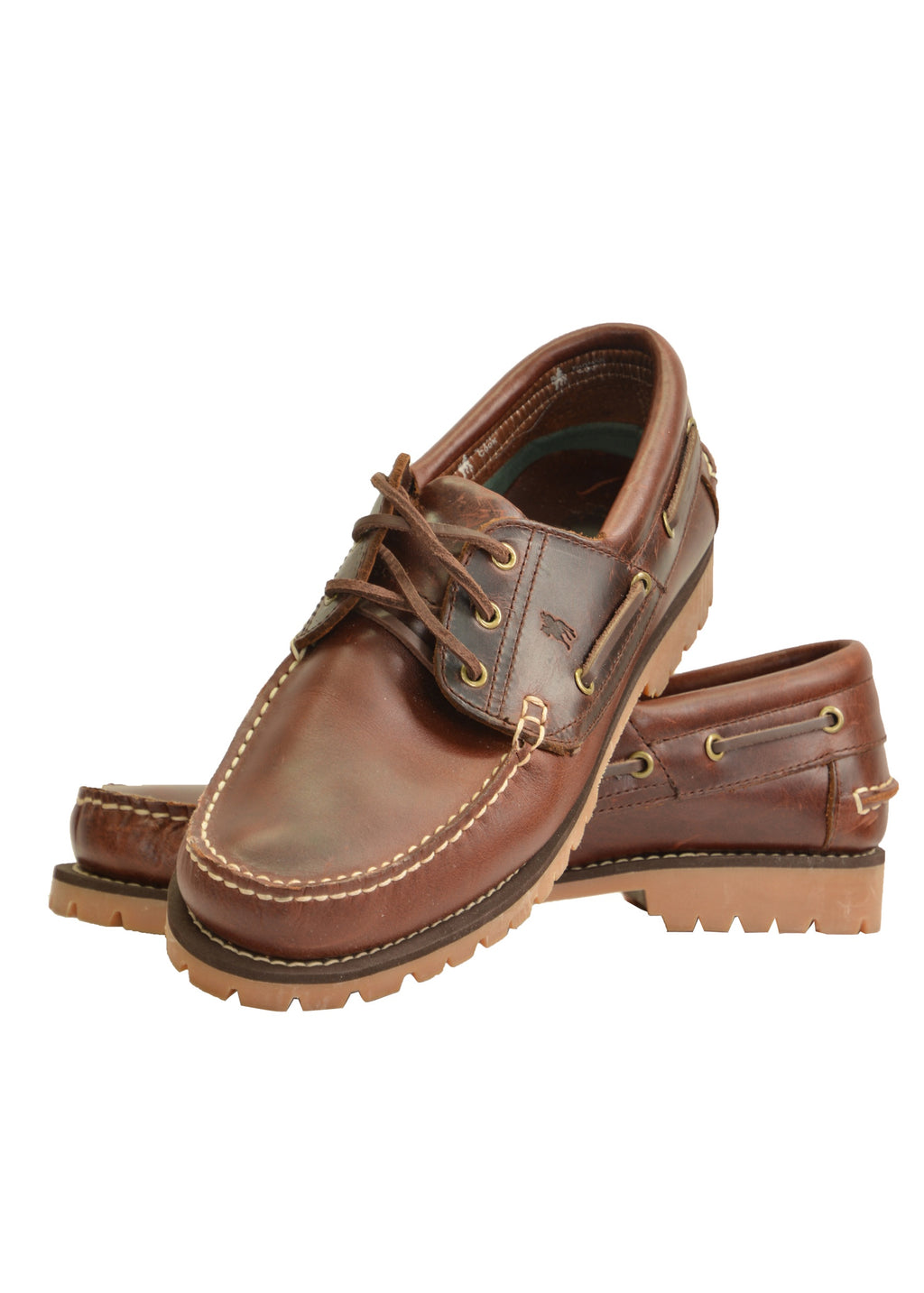 Mens Cruiser Boat Shoe - Cleated Sole (Dark Brown)