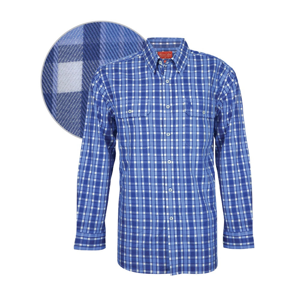 Mens Nashdale Check 2_Pkt Long_Sleeves Shirt