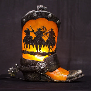Table Lamp Boot Cowboy