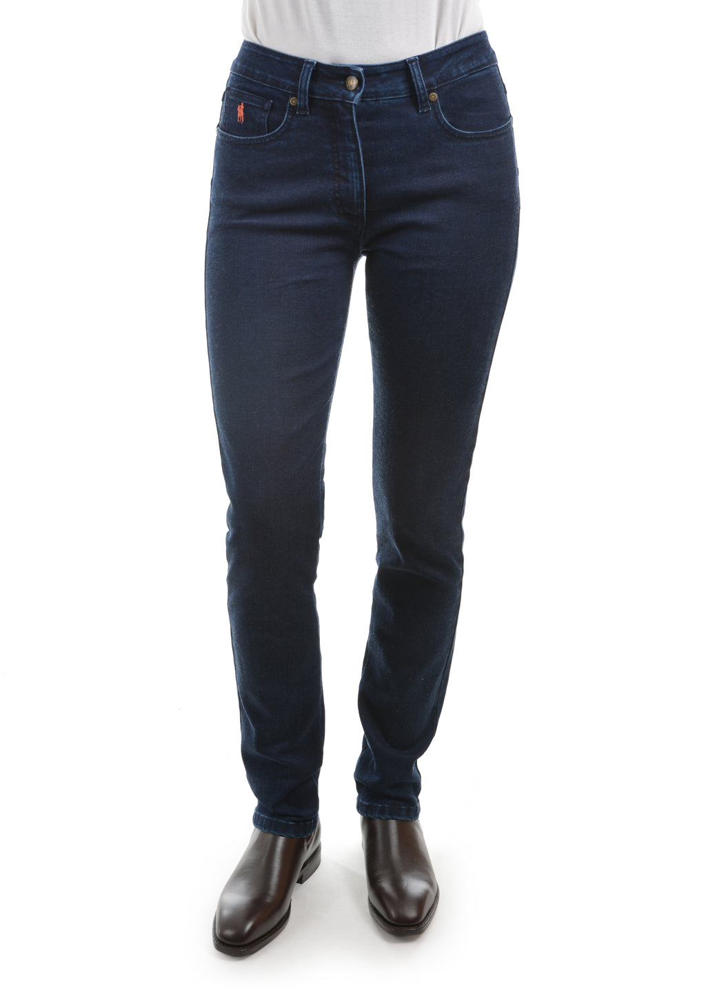 Womens Wool Denim Slim Leg Wonder Jean