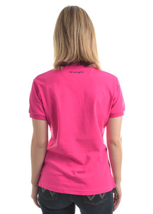 Womens Tina Short Sleeve Polo (Fuschia)