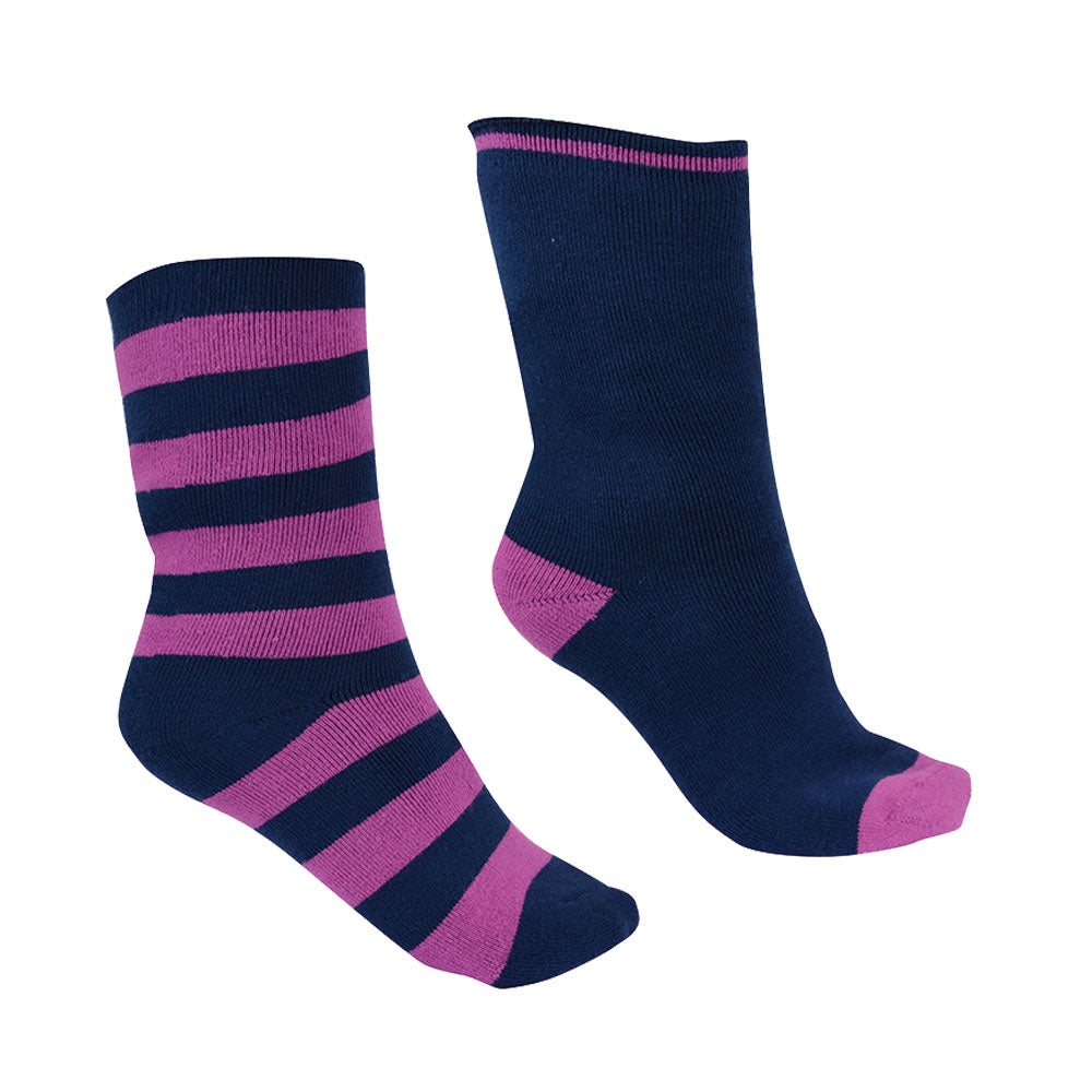 Thermal Socks - Twin Pack (Purple Orchid/Navy)
