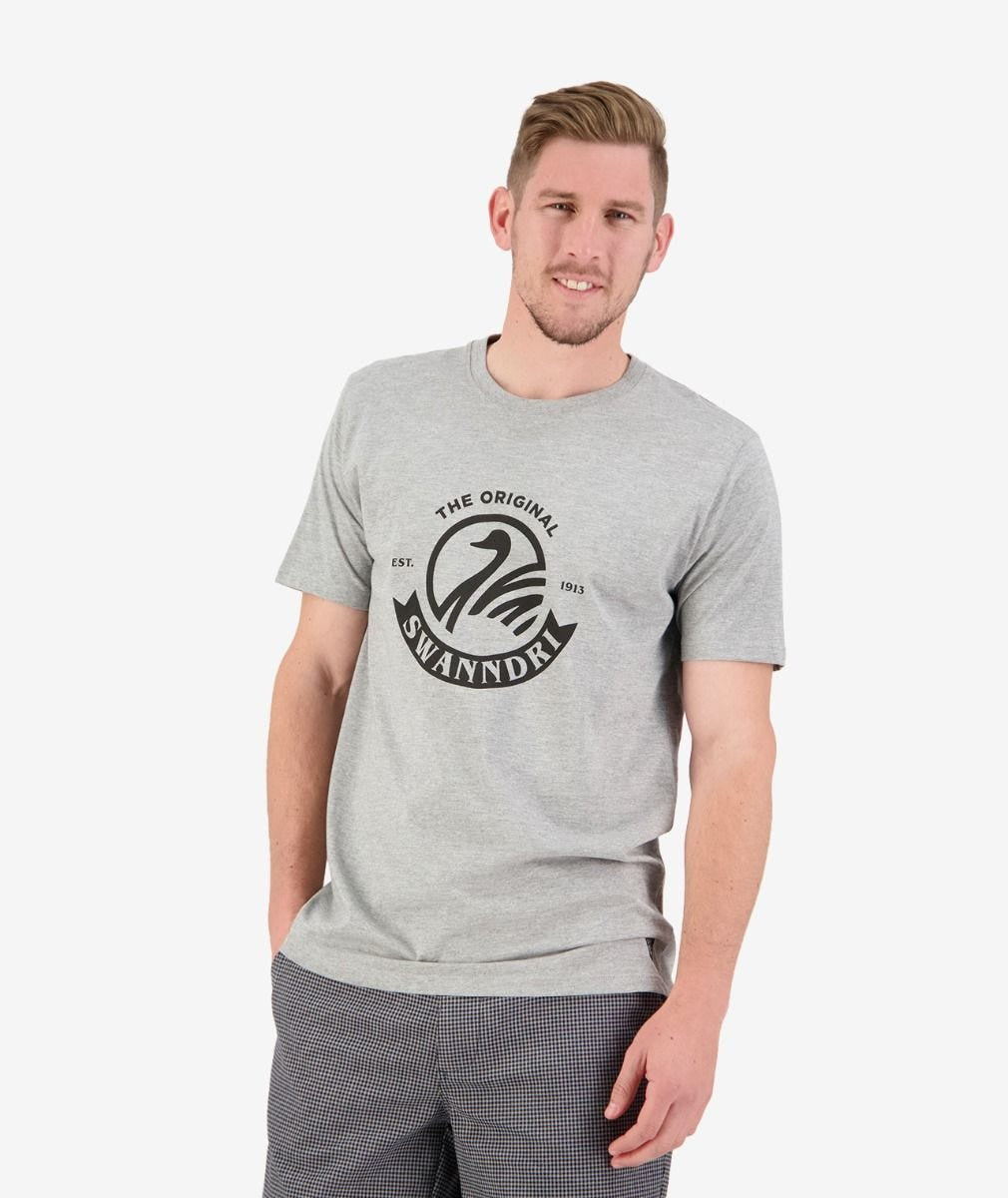Mens Original Print Tee (Grey Marle/Black S20)