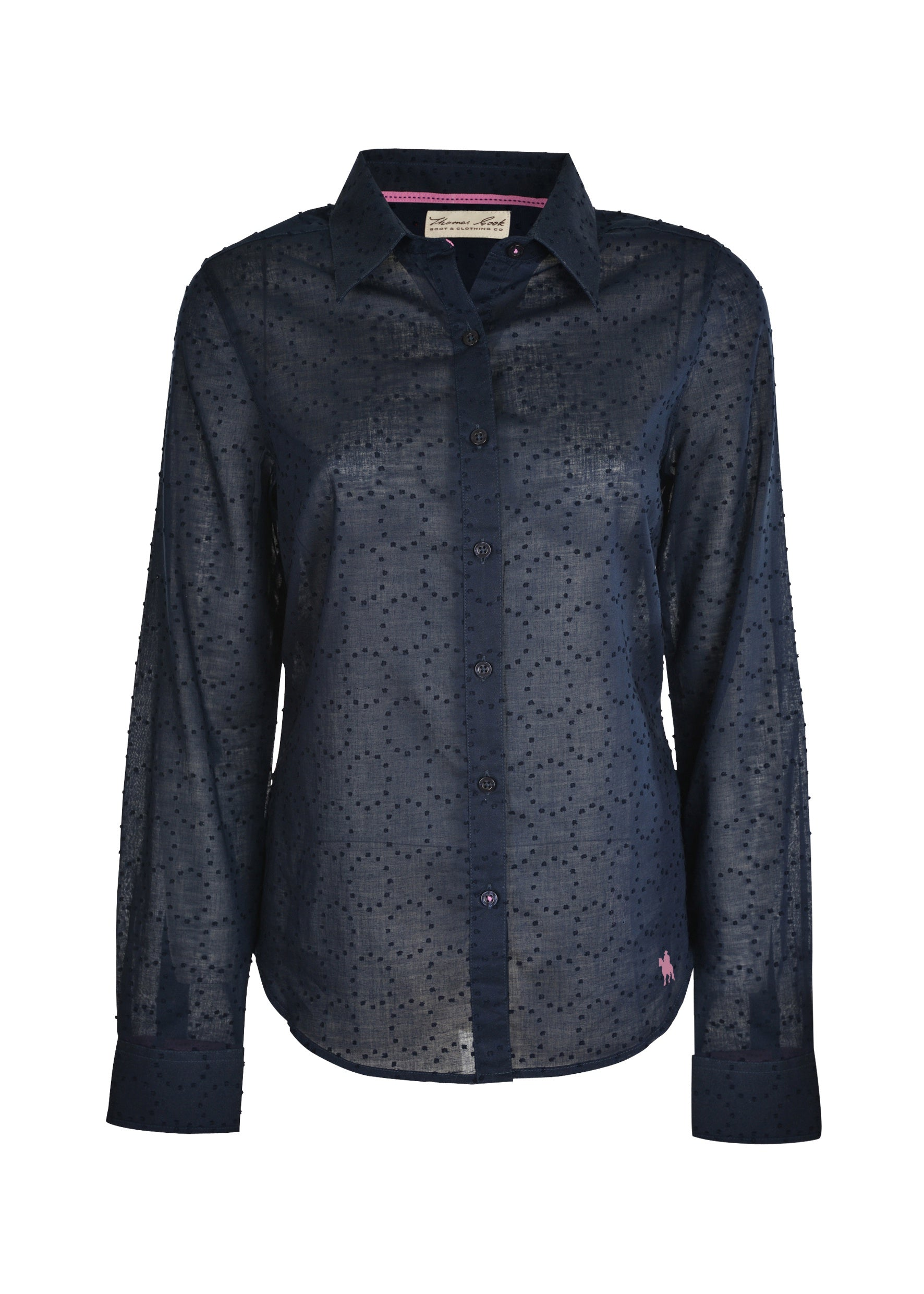 Womens Parafield L/S Shirt (Dark Navy)