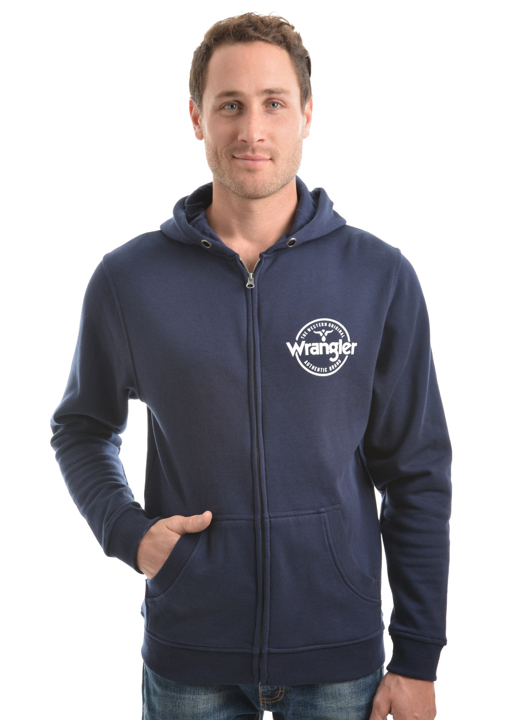 Mens Cooper Zip Up Hoodie (Navy)