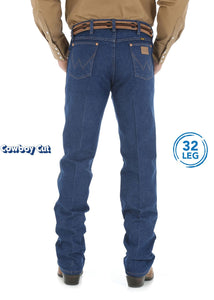 Mens Cowboy Cut Original Fit Jean 32 Leg (Prewashed Indigo)