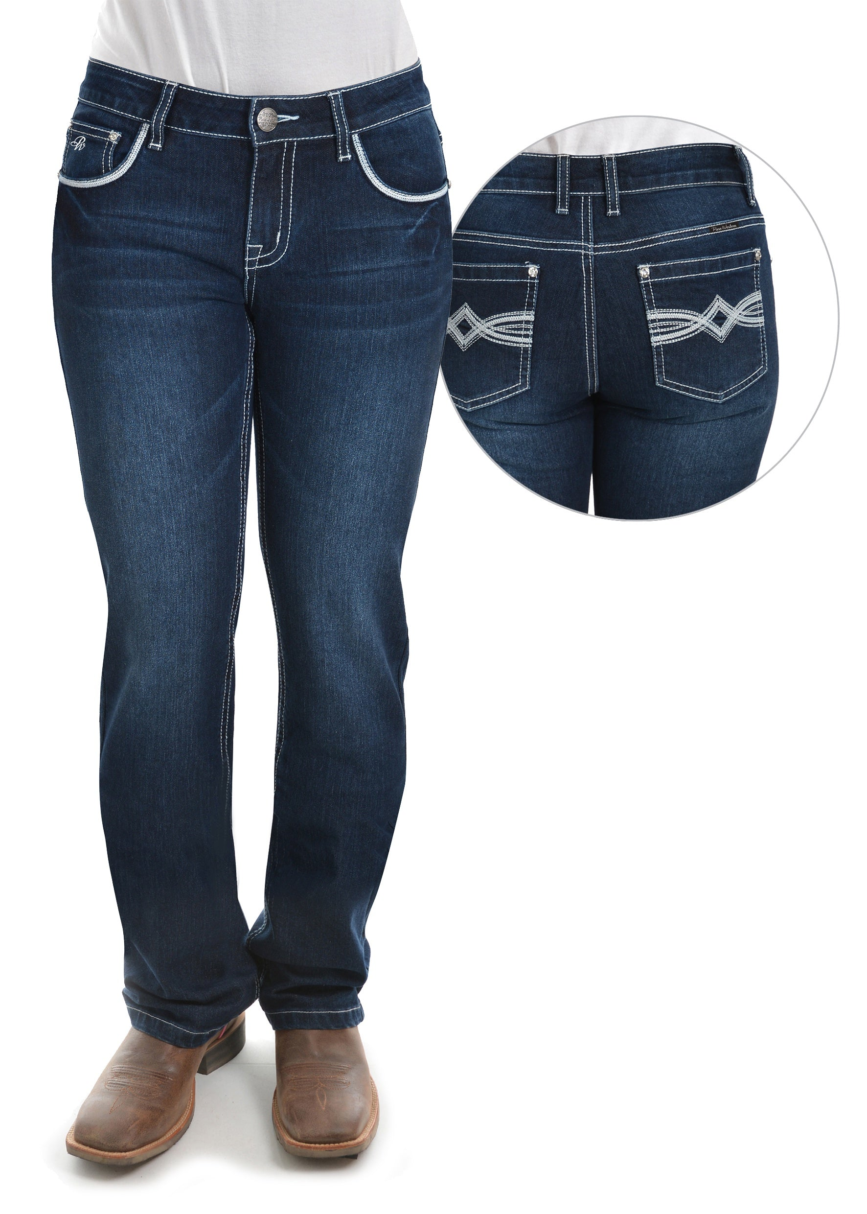 Womens Nancy Straight Leg Jean (Midnight)