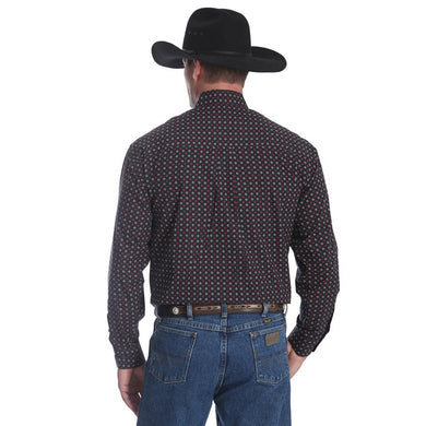 Wrangler George Strait Men's Black Print Long Sleeve Shirt