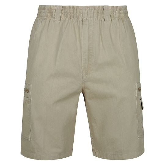 Mens Ben Cotton Drill Cargo Shorts (Khaki)