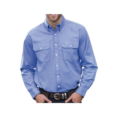 Mens Oxford 2-Pkt L/S Shirt