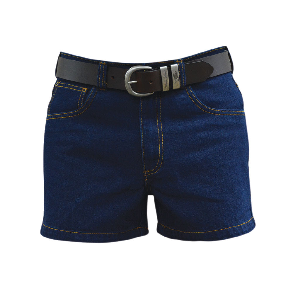 Mens Stretch Denim Short 4 Inch Leg (Dark Blue)