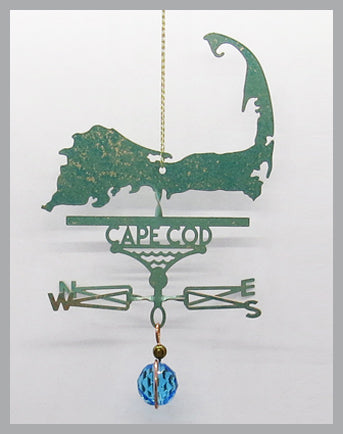 Cape Cod Silhouette Weathervane Ornament