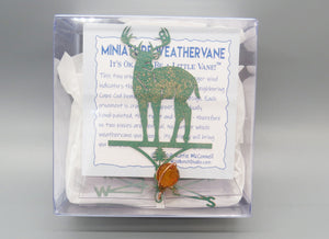 Deer Buck silhouette weathervane ornament