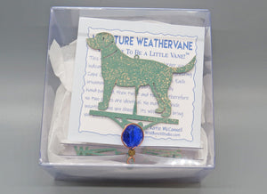 Dog Weathervane Ornament - charmed