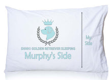 Load image into Gallery viewer, Golden Retriever Personalized Pillowcase