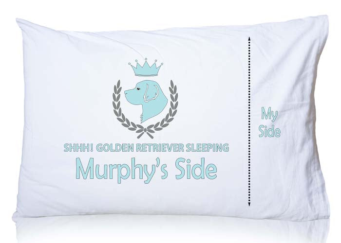 Golden Retriever Personalized Pillowcase