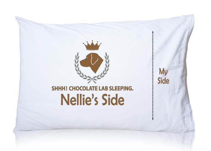 chocolate lab pillowcase