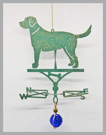 lab dog silhouette weathervane ornament