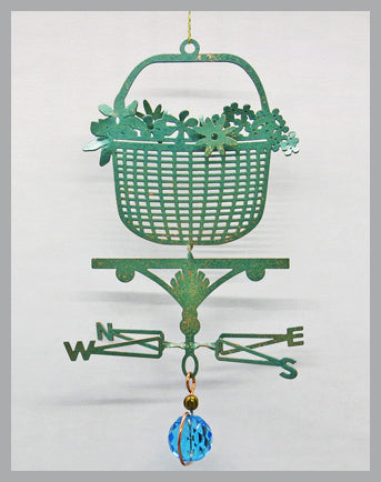 Lightship Basket Weathervane Ornament