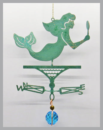 Mermaid Silhouette Weathervane Ornament