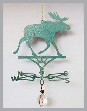 Moose Silhouette Weathervane Ornament