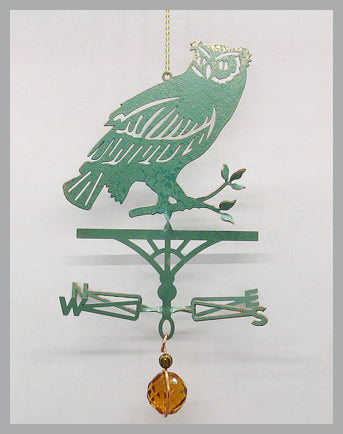Owl Silhouette Weathervane Ornament