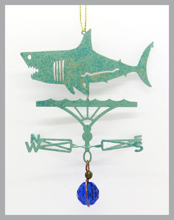 Shark (Great White) Silhouette Weathervane Ornament