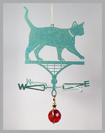 Cat silhouette weathervane ornament