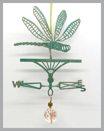 dragonfly silhouette weathervane ornament