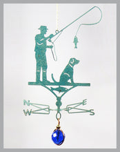 Load image into Gallery viewer, fisherman silhouette weathervane ornament