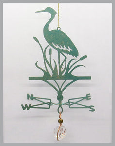 blue heron silhouette weathervane ornament