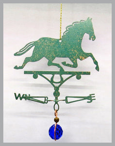 horse silhouette weathervane ornament