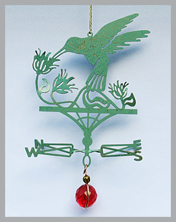 hummingbird silhouette weathervane ornament
