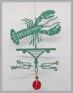 lobster silhouette weathervane ornament
