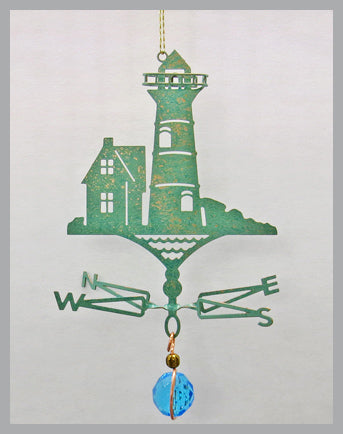 lighthouse silhouette weathervane ornament