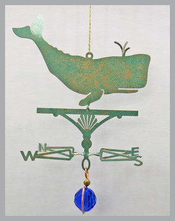 Whale Silhouette Weathervane Ornament