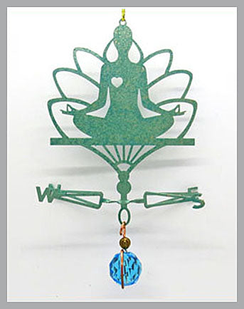Yoga Silhouette Weathervane Ornament