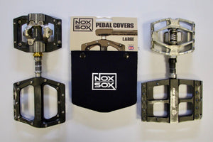 Collection of pedals that all fit the Large sized Nox Sox Pedal Covers