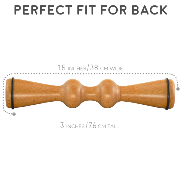 Wooden Back Roller & Massager
