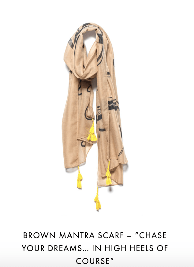 Mantra Scarf Chase Your Dreams In High Heels Of Course