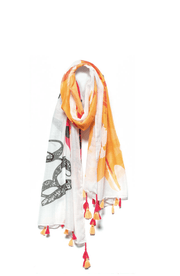 "Mantra Scarf ""Be mindful."""