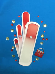 Hello Ruby Is It Tuesday Set of 4 Glass Nail Files and Pumice Files