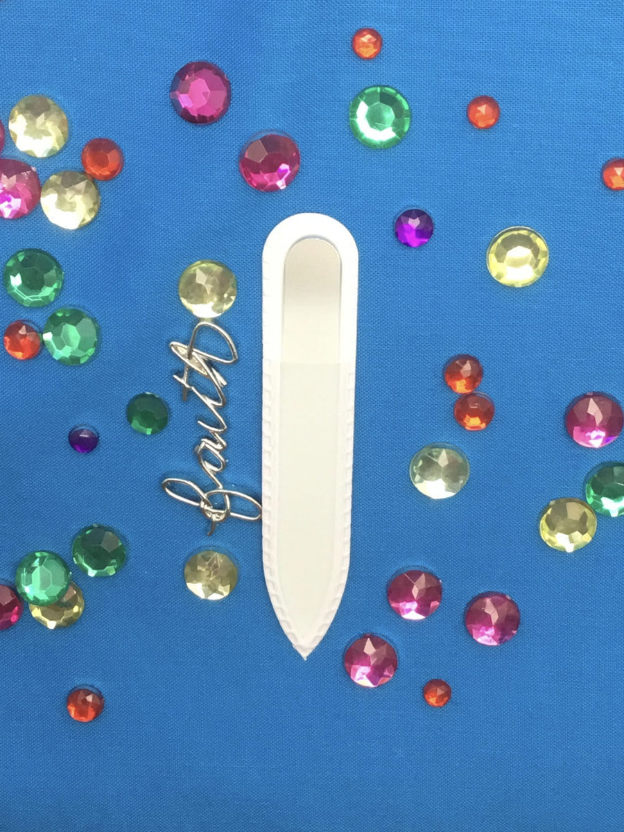 Tinsel on the Snow Small Glass Nail File